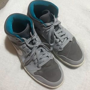 Nike Air Jordan sport shoes.